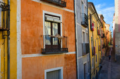 Colorful fa�ades of an old Spanish town Stock Images