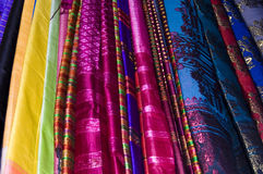 Colorful Fabric. S for sale at an asian market Royalty Free Stock Photos