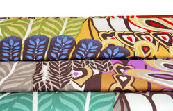 Colorful fabric. Colorful canvas fabric lie flat Stock Image