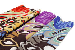 Colorful fabric. Colorful canvas fabric lie flat Royalty Free Stock Image