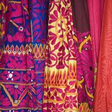 Colorful fabric. Stock Images
