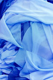 Colorful fabric. Fabric color of blue and blue crowded disordinatamente Royalty Free Stock Photo