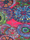 Colorful fabric abstract Stock Photography