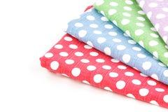 Colorful fabric. Arrange on white background Royalty Free Stock Images