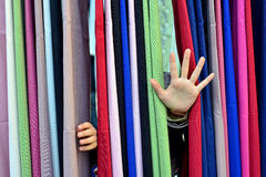 Colorful fabric background Stock Photos