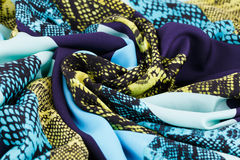 Colorful fabric. For background, close-up image Royalty Free Stock Images