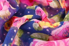 Colorful fabric background. Closeup picture Royalty Free Stock Image