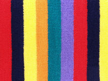 Colorful knitting yarn fabric texture background Royalty Free Stock Photos
