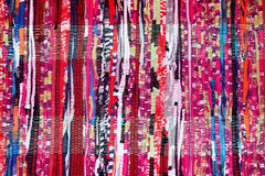 Colorful Fabric Background Pink Purple Blue Red Black White. Mixed Royalty Free Stock Photos