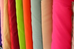 Colorful fabric background. Or texture Royalty Free Stock Photography