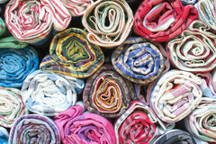 Colorful the fabric background. Top view of colorful the fabric background Royalty Free Stock Image