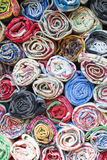 Colorful the fabric background. Top view of colorful the fabric background Stock Photos