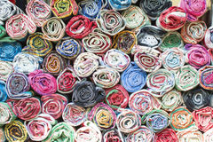 Colorful the fabric background. Top view colorful the fabric background Stock Photo