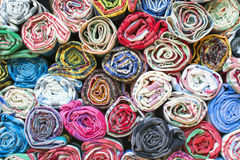 Colorful the fabric background. Top view of colorful the fabric background Royalty Free Stock Photography