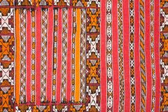 Colorful fabric in the bazaar royalty free stock photo