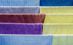 Colorful fabric. Beautiful colorful fabric cotton on drying Stock Photo