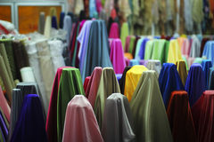 Colorful fabric Stock Images
