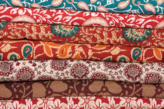 Colorful fabric, close up Royalty Free Stock Images