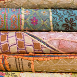 Colorful fabric, close up Royalty Free Stock Photo
