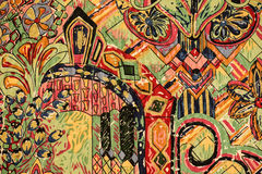 Colorful Fabric. A colorful cotton fabric design Stock Photography