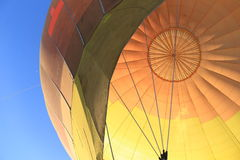 Colorful fabric dome of Hot Air Balloon Royalty Free Stock Photos