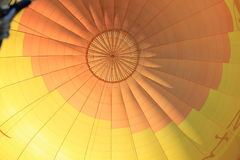 Colorful fabric dome of Hot Air Balloon Stock Photography