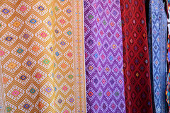 Colorful fabric. S at Chiapas, Mexico royalty free stock photography