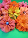 Colorful fabric flowers Royalty Free Stock Photography