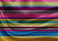 Colorful fabric with folds Stock Image