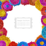 Colorful fabric frame Stock Photo