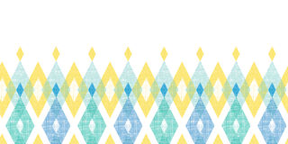 Colorful fabric ikat diamond horizontal seamless Royalty Free Stock Photo