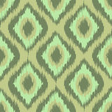 Colorful fabric ikat diamond seamless pattern background green. mint. khaki vector Royalty Free Stock Images