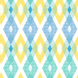 Colorful fabric ikat diamond seamless pattern Stock Photography