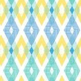 Colorful fabric ikat diamond seamless pattern Stock Photography