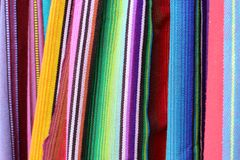 Colorful fabric from latin america Stock Photos