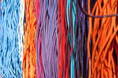 Colorful fabric line Stock Photo