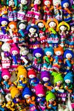 Colorful Fabric at market in Peru, South America Stock Image