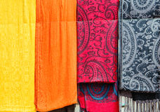 Colorful fabric of Morocco Royalty Free Stock Photography