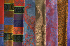 Colorful fabric pattern. royalty free stock photos