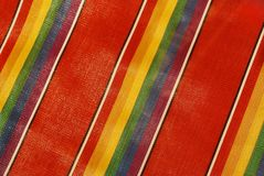 Colorful fabric pattern. Macro colorful fabric in strip pattern Stock Photos