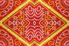Colorful Fabric Patterned Background Stock Photography