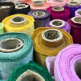 Colorful fabric. Roll colorful fabric for clothing Royalty Free Stock Image