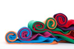 Colorful fabric rolls Royalty Free Stock Photo