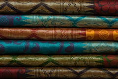 Colorful fabric rolls Royalty Free Stock Images