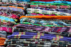 Colorful fabric rolls Stock Photography