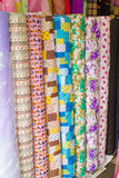 Colorful fabric rolls Stock Images