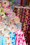 Colorful fabric rolls Stock Photo