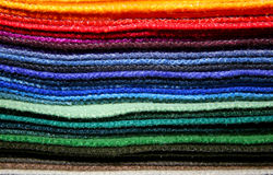 Colorful fabric samples Stock Image
