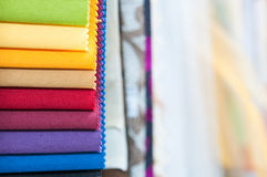 Colorful Fabric Samples Background Royalty Free Stock Images