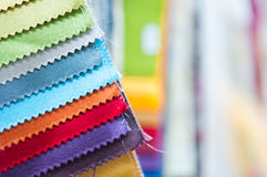 Colorful Fabric Samples Background Stock Image